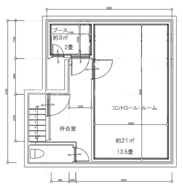 豊島区南長崎2丁目 月極賃貸レコーディングスタジオの間取り図